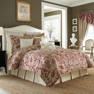 Croscill® Avery King Comforter Set in Red