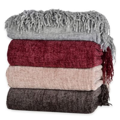 Berkshire Blanket® Chenille Comfort Throw in Linen