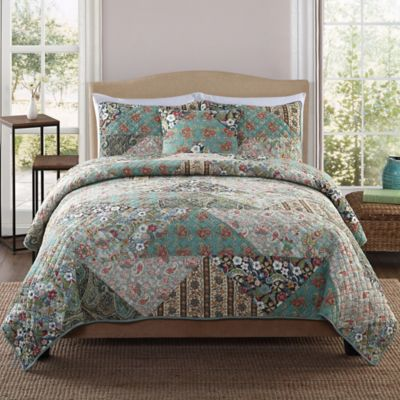 Country Triangle Patchwork Full/Queen Quilt Set