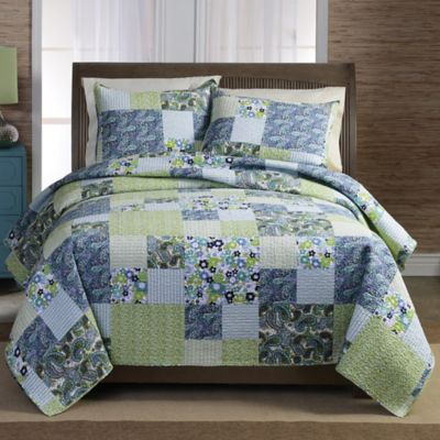 Blue Bedding Patchwork