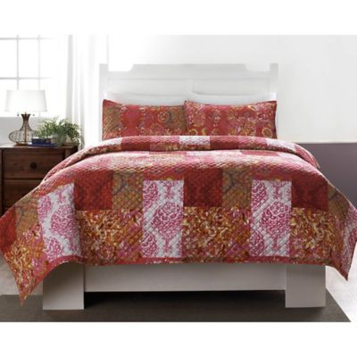 Leslie Microfiber Full/Queen Quilt Set