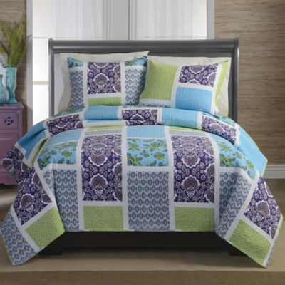 Maggie Purple Full/Queen Quilt Set