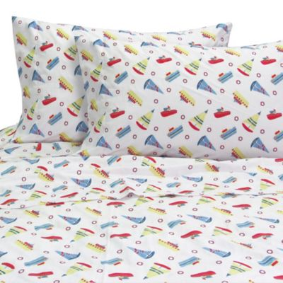 Melanie and Max Boats Twin Sheet Set in Multi