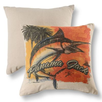 Panama Jack® Orange Marlin Throw Pillows in Natural (Set of 2)