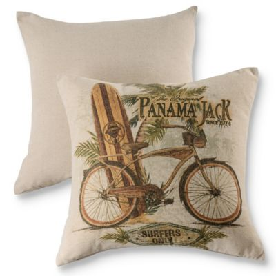 Panama Jack® Beach Comber Throw Pillows in Natural (Set of 2)