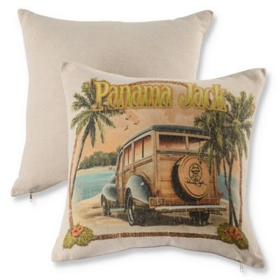 Panama Jack® No Problem Throw Pillows in Natural (Set of 2)