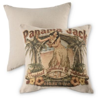 Panama Jack® Tropical Latitudes Throw Pillows in Natural (Set of 2)