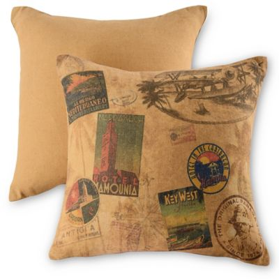 Panama Jack® Vintage Travel Throw Pillows in Natural (Set of 2)