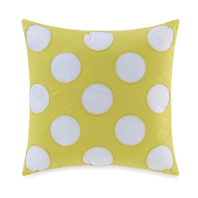 Teen Vogue® Painted Poppy Square Throw Pillow in Green