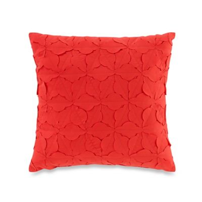 Teen Vogue® Painted Poppy Square Throw Pillow in Red