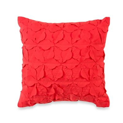 Teen Vogue® Folksy Floral Square Throw Pillow in Red