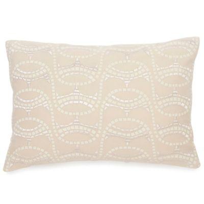 BiniChic Terracotta Oblong Throw Pillow in Cream