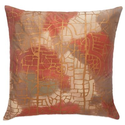 BiniChic Terracotta 18-Inch Square Throw Pillow in Terracotta
