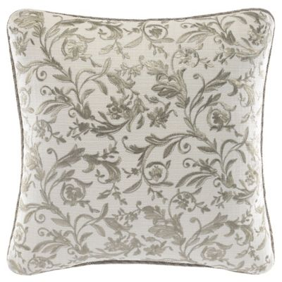 Croscill® Avery Square Throw Pillow in Ivory