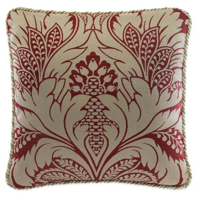 Croscill® Avery Square Throw Pillow in Red
