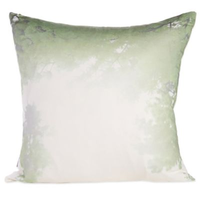 Belle Epoque Home Concept Bubbly Square Throw Pillow in Green