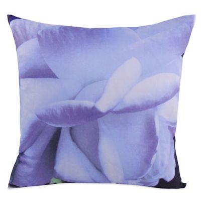 Belle Epoque Pinpoint White Floral Print Square Throw Pillow