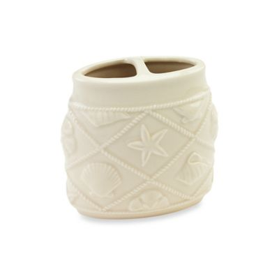 Avanti Shell Trellis Toothbrush Holder in Ivory
