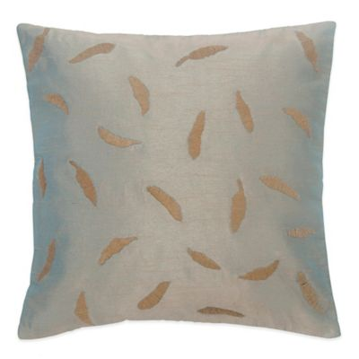 BiniChic® Foscari Embroidered Leaves Square Throw Pillow