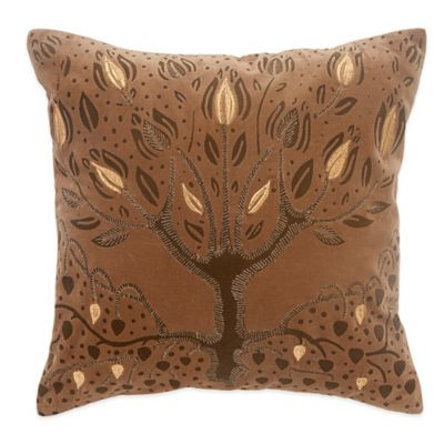 BiniChic® Foscari Tree of Life Square Throw Pillow
