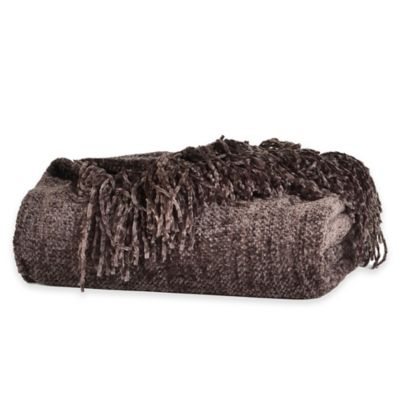 Berkshire Blanket® Chenille Comfort Throw in Brown