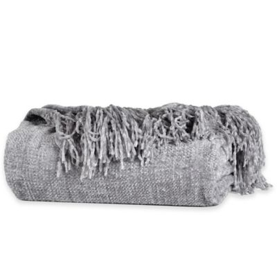 Berkshire Blanket® Chenille Comfort Throw in Grey