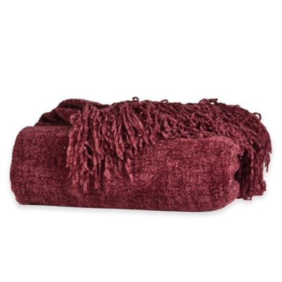 Berkshire Blanket® Chenille Comfort Throw in Wine
