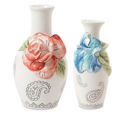Fitz and Floyd® Paisley Park Bud Vase (Set of 2)