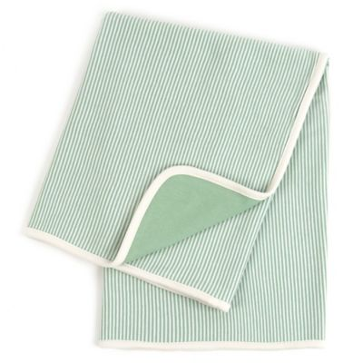 Tadpoles Pinstripe Organic Cotton Receiving Blanket in Sage