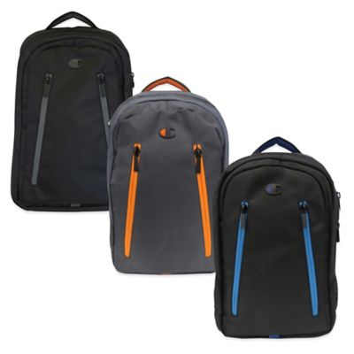 Champion® Ambition Backpack in Black/Blue