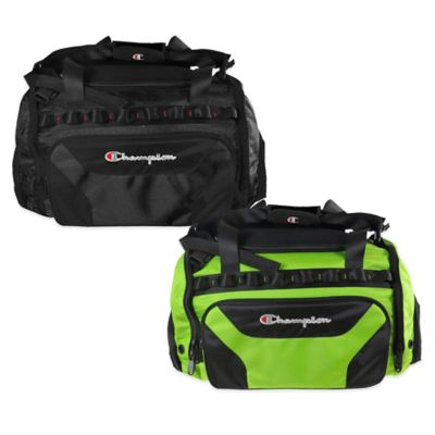 Champion® Concrete 22-Inch Duffle Bag in Black/Lime Green