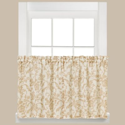 Melissa 36-Inch Window Curtain Tier Pair in Tan