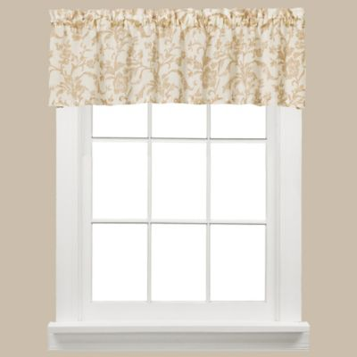 Melissa Window Curtain Valance in Tan