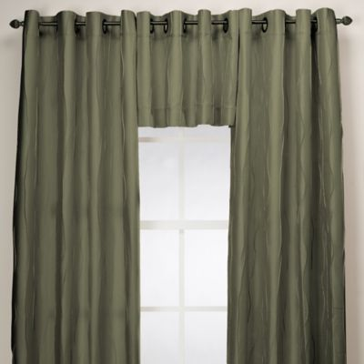 Blue Red Curtain Valance