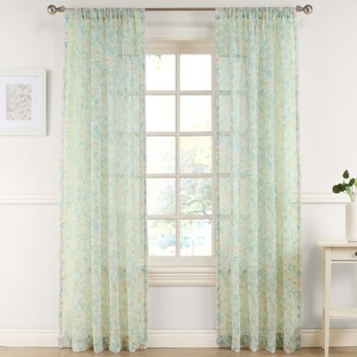 Pandora 63-Inch Sheer Window Curtain Panel in Apricot