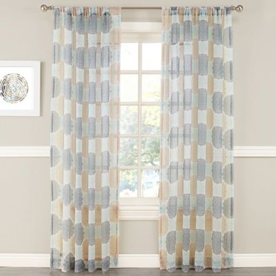 Violet 84-Inch Window Curtain Panel in Apricot