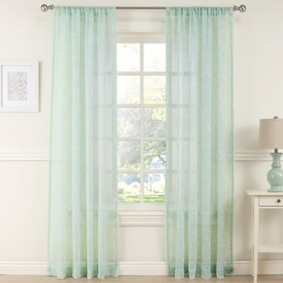 Daydreamer 63-Inch Sheer Window Curtain Panel in Mint