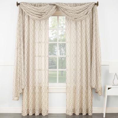 Wagner Scarf Window Valance in Mink