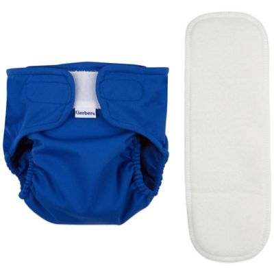 Gerber® Size Large 2-Piece All-in-One Reusable Diaper with Insert Set in Blue