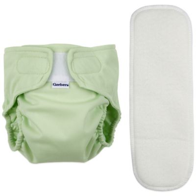 Gerber® Size Small 2-Piece All-in-One Reusable Diaper with Insert Set in Sage