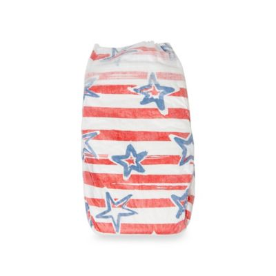 Honest 40-Pack Size Newborn Diapers in Stars & Stripes Pattern