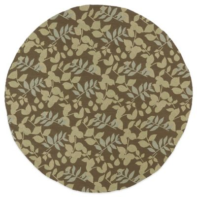 Kaleen Home & Porch Wymberly 5-Foot 9-Inch Round Indoor/Outdoor Rug in Coffee
