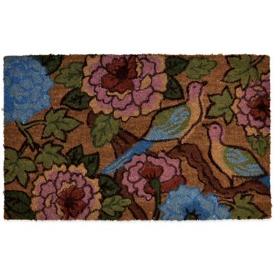 22-Inch x 36-Inch Two Birdsr Vinyl-Backed Coir Door Mat