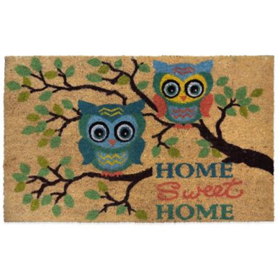"22-Inch x 36-Inch ""Home Sweet Home"" Vinyl-Backed Coir Door Mat"