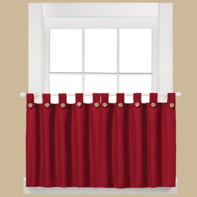 Westlake 36-Inch Window Curtain Tier Pair in Red