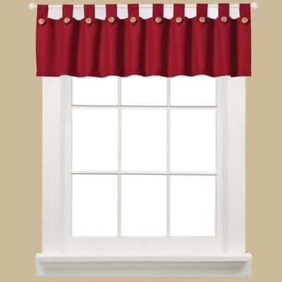 Westlake Window Curtain Valance in Red