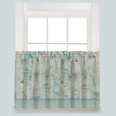 High Tide 36-Inch Kitchen Window Curtain Tier Pair