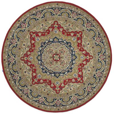 Kaleen Tara Piet 7-Foot 9-Inch Round Area Rug in Red