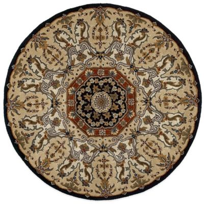 Kaleen Tara Henri 3-Foot 9-Inch Round Area Rug in Black