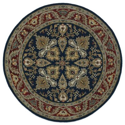 Kaleen Tara Gustay 3-Foot 9-Inch Round Area Rug in Navy